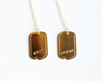 Best Friend Charm Necklace Set