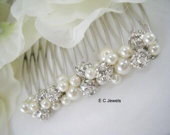 Elegance, Pearl and Rhinestone Comb