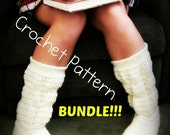 3 Crochet Pattern BUNDLE- Buy 3 and SAVE!!! - Women's, Youth, & Toddler's Cozy Slipper Boots