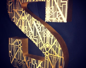 """12"""" Art deco Gatsby Inspired letter for weddings, parties, decor, parties, and events!"""