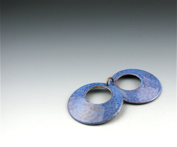 Enameled Domed Hoops