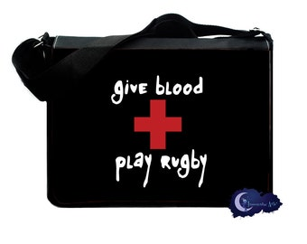 Give Blood, Play Rugby Messenger and Laptop Computer Bag