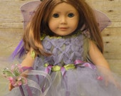 Meadow fairy doll dress, meadow fairy matching doll dress, doll costume, fairy costume dolls, birthday doll dress