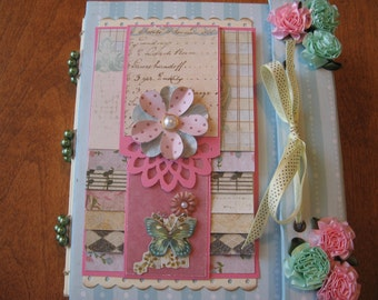 "Tutorial 8""x6"" Scrapbook Mini Album with Beaded Spine (PDF Download PLUS links to videos)"