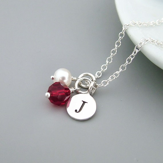 18th Birthday Necklace Sterling Silver Custom Birthstone: Items Similar To Personalized Birthstone Necklace
