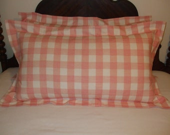 Custom Made to Order Flanged Pillow Shams