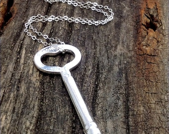 Sterling Silver Key To My Heart Necklace Wild Prairie Silver Jewelry