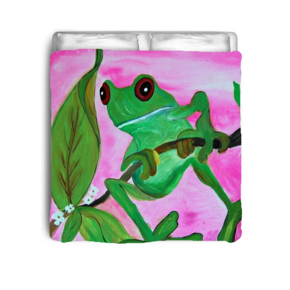 Sassy Frog Comforter From My Art By Maremade On Etsy