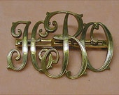 Vintage Art Deco Monogram Brooch HBO