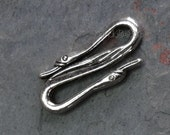 10 Goose Neck, Swan Head, S clasp, Hook connector, finding, duck, mallard, Findings Antique Silver Color Charms Metal Alloy 25x10x3 mm