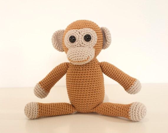 Crochet Pattern Monkey Amigurumi Monkey Animal Toy Pattern