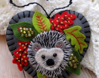 Made to Order - Holiday Hedgehog Ornament