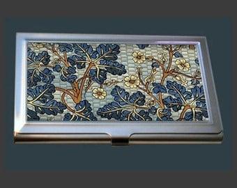 Business Card Case - Vintage Art Nouveau Style Flowers