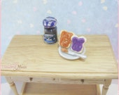 Miniature food jewelry Peanut Butter and Jelly Earring Studs