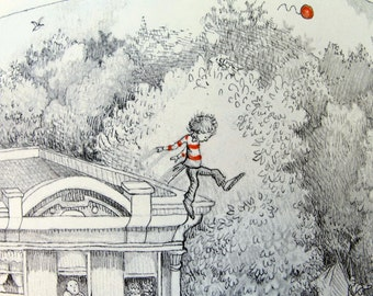 The Boy With the Helium Head 1982 First Edition Hardcover Pictorial Book Phyllis Naylor Illustrated Kay Chorao