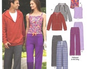 Unisex Sweatshirt Cami Knit Pants Uncut Pattern New Look All Sizes