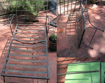 Vintage Patio Furniture Metal Chaise Lounge