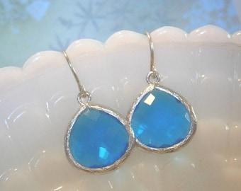 Royal Blue Earrings, Silver Earrings, Best Friend Birthday, Mother's Day