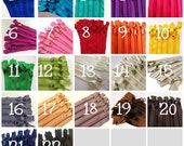 9 inch Handbag zippers with long pull, CHOOSE colors, FIFTEEN pcs - neutrals, turquoise, aqua, purple, green, sunflower, orange, pink, red