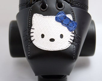 Leather Toe Guards with Hello Kitty -- Choose Your Bow Color!!!