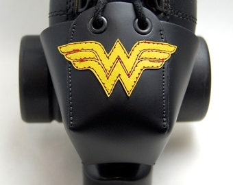 Leather Toe Guards with Wonder Woman Logo