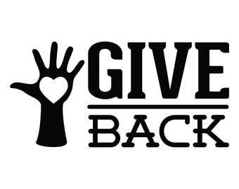 Give Back Wall Decal