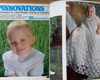 vintage knitting crochet patterns Spinnovations no 7 BABY TODDLER 53 designs