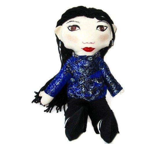 Custom  Chinese Girl Rag Doll With Cheongsam- Asian Girl Doll.