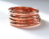 Simple Copper Ring,  Stackable Copper Ring Band