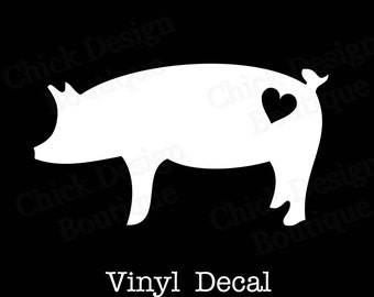 Pig Silhouette Vinyl Decal
