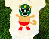 Kitty Luchador - Mexican Wrestler Cat Infant Bodysuit