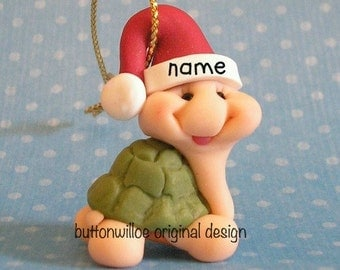 Tiny Turtle Whimsical Miniature Turtle Christmas Ornament 1 inch