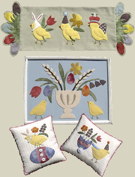 Wool Applique Patterns Titled Easter Chicks By By