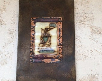 Dreamer- Fused Glass, Copper and Steel Wall Art