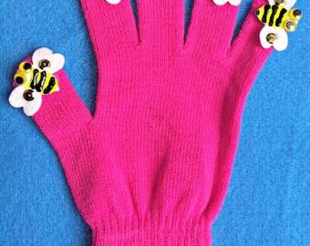 Puppet Glove Set 5 LITTLE BUMBLEBEES Puppet Glove Set Great for Toddler Teaching Fun