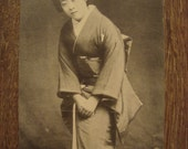 Nice Vintage Japanese Beauty Bowing Postcard