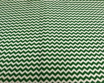 Mini Chevron print fabric green