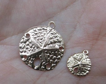 Gold Filled  Large and Small Sand Dollar Charms(You Choose Which One)