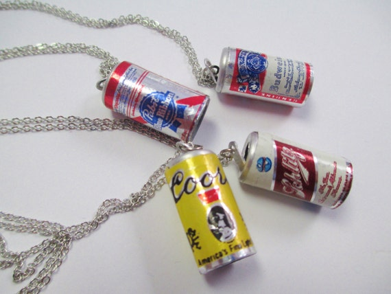 Vintage Beer Can Necklace DEADSTOCK