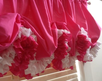 Double Ruffle Balloon  curtain  with Choice of Color