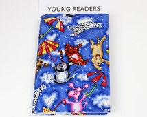 Children's Paperback Book Cover - Raining Cats and Dogs for Kids, Young Readers, Blue