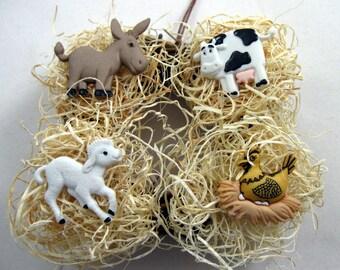 Farm Animals Christmas Ornament 201