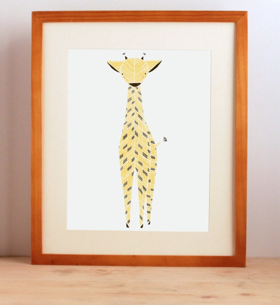 Giraffe Wall Art, Giraffe Print, Baby Animal Print, Safari Nursery Art Print, Jungle Animals, Nursery Prints, Animal Art, Baby giraffe art