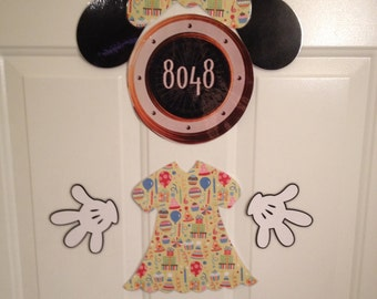 Minnie Mouse Birthday Girl Body Part Stateroom Door Magnets for Disney Cruise