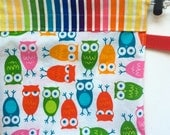 Baby Carrier Stuff Sack - Fits the ERGOBaby, Boba, TULA, Kinderpack, Moby and More - Owls in Bright
