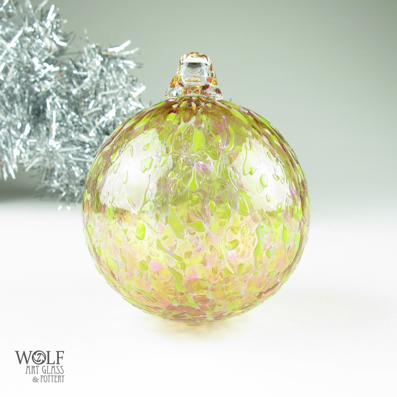 glass christmas tree ornament blown glass by wolfartglass on etsy. Black Bedroom Furniture Sets. Home Design Ideas