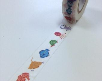 Washi Tape - 15mm - Under the Sea - Deco Paper Tape No. 152