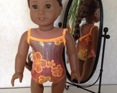 18 Inch American Girl Doll Clothes Hello Hibiscus Swim Suit Ready to Ship