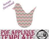 Applique Template - Chickadee