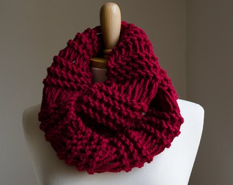 Knitted Drop Stitch Cowl Pattern : knit cowl pattern   Etsy UK